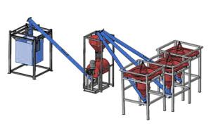 Линия производительностью 40 тонн в смену (полуавтомат) М3-40Т