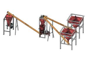 Мини-завод по производству сухих строительных смесей 20 тонн в смену (полуавтомат) МЗ-20Т